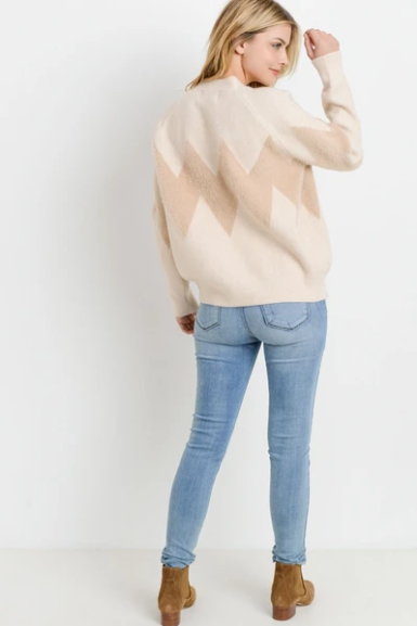 PAPER CRANE/LOVEMARKS Knit Chevron Sweater