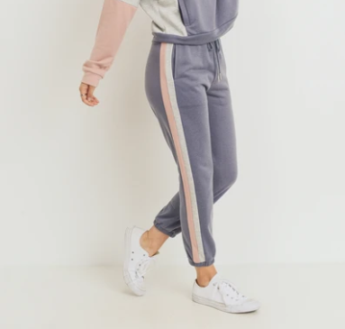 PAPER CRANE/LOVEMARKS Color Block Stripe Pants