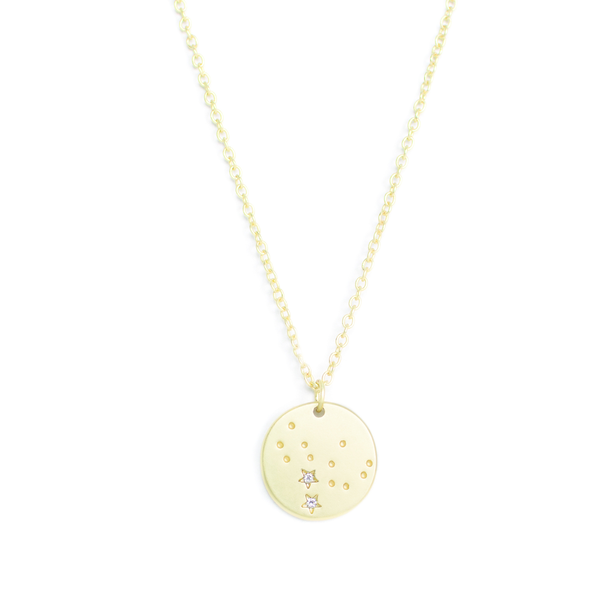 Lucky Feather Zodiac Constellation Necklace