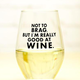 Meriwether Not To Brag Stemless Wine Glass