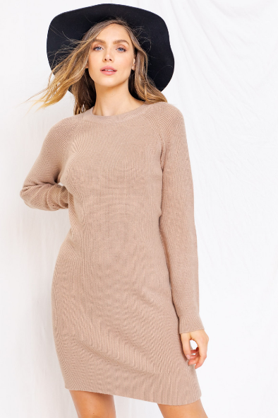 GILLI Crewneck Sweater Dress