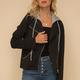 Hem & Thread Hoodie Moto Jacket
