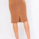 GILLI Ribbed Midi Skirt