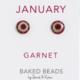 Baked Beads Birthstone Crystal Stud Earrings