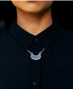 Dissent Pins Gold Dissent Collar Necklace