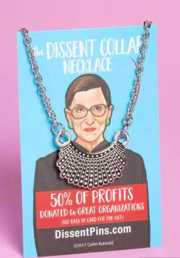 Dissent Pins Silver Dissent Collar Necklace