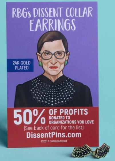 Dissent Pins Gold Dissent Collar Studs