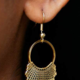Dissent Pins Dissent Collar Hook and Hoop Earring Gold