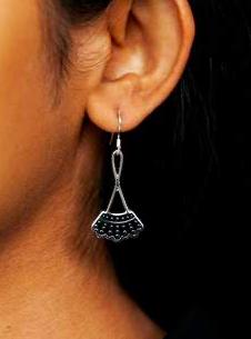 Dissent Pins Silver Dissent Collar Drop Earrings