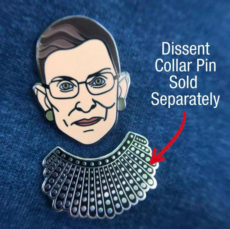 Dissent Pins RBG Face Pin