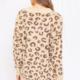 GILLI Leopard Print Oversized Cardigan