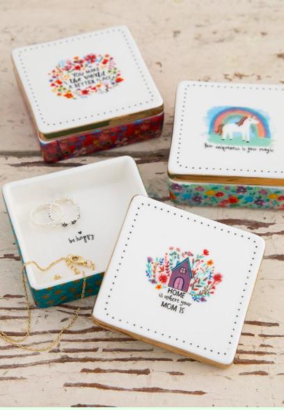 Natural Life Ceramic Trinket Box