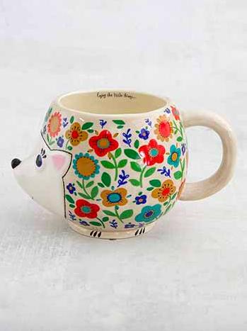 Natural Life Harriet The Hedgehog Folk Mug