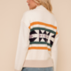 Hem & Thread Zip Up Jacquard Jacket