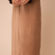 Hem & Thread Soft Velvet Ribbed Midi Skirt