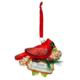 Demdaco Blown Glass Cardinal Merry Christmass  Ornament