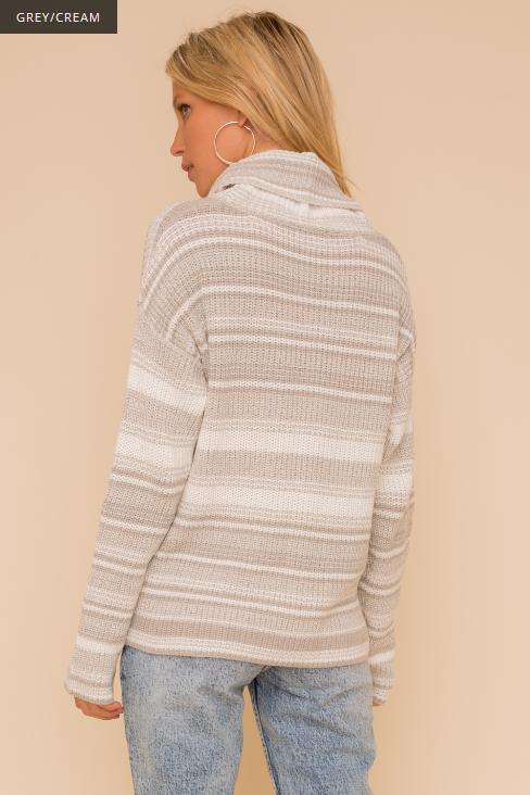 Hem & Thread Stripe Turtleneck Sweater