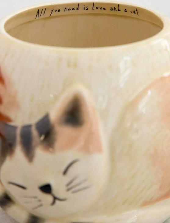 Natural Life Clara The Sleeping Cat Folk Mug