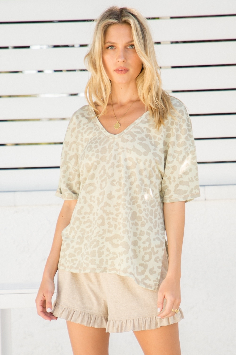 Hem & Thread Leopard Print Knit Top