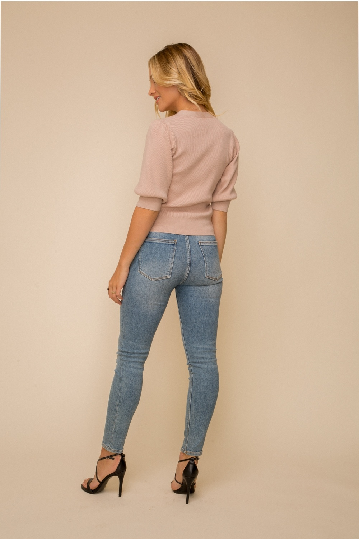 Hem & Thread Short Sleeve Sweater Cardigan