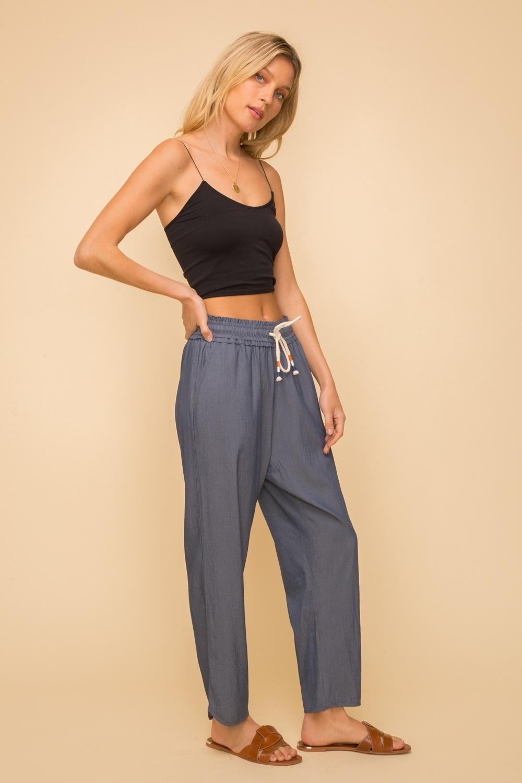 Hem & Thread Drawstring Pants