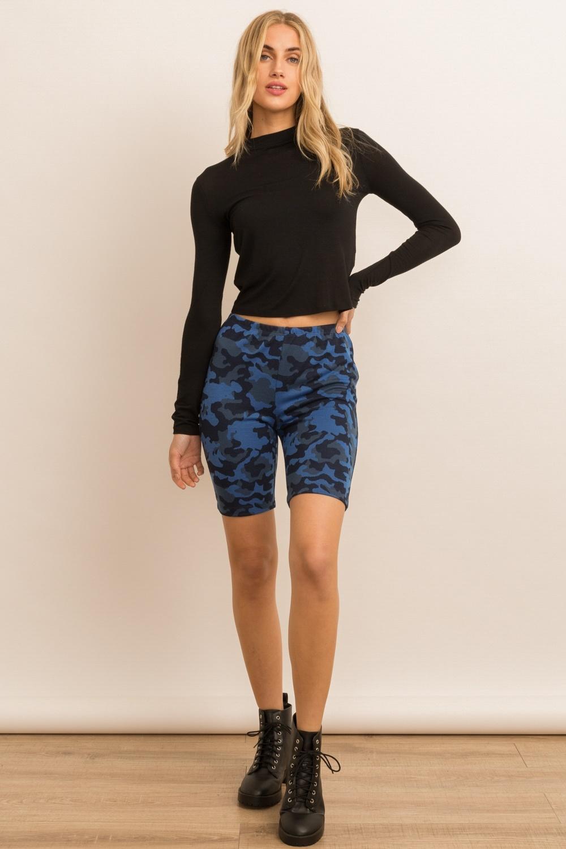 Hem & Thread Camo Bike Shorts