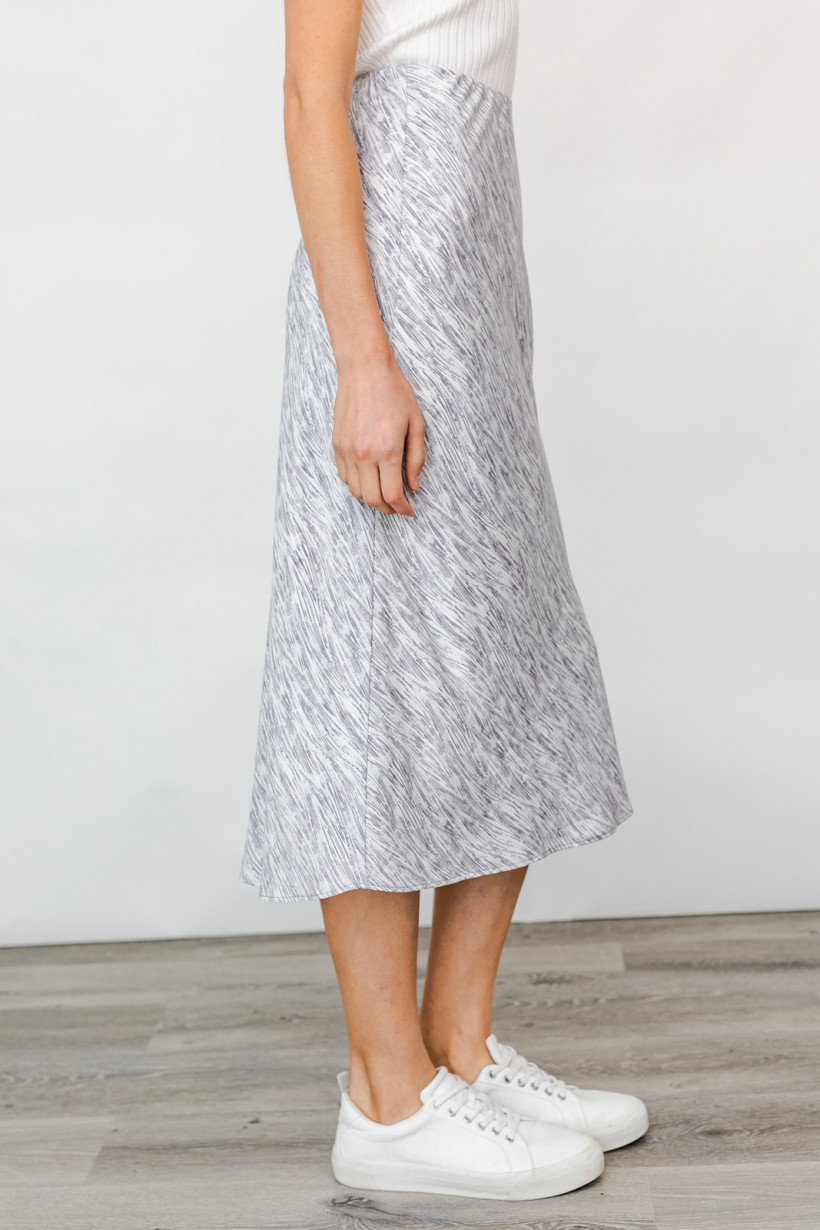 GILLI Abstract Print Midi Skirt