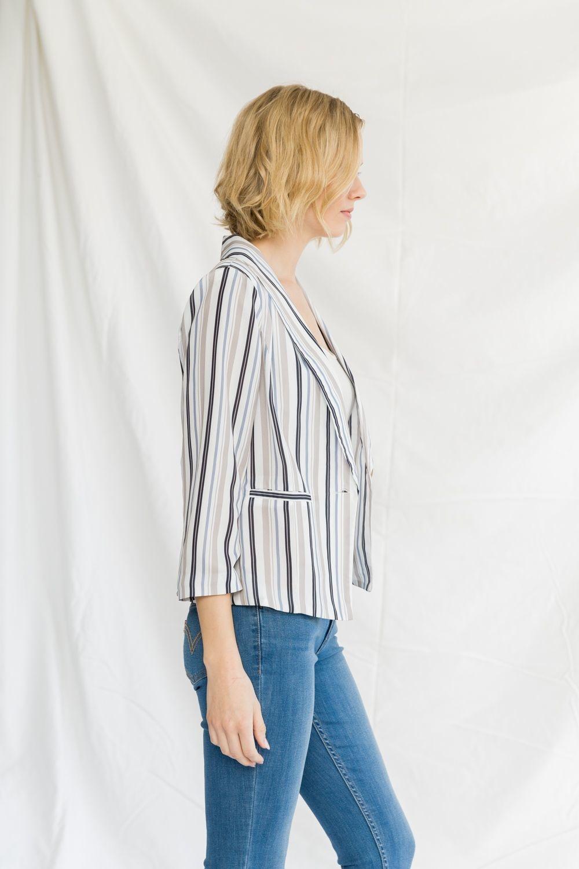 Mystree Striped Blazer