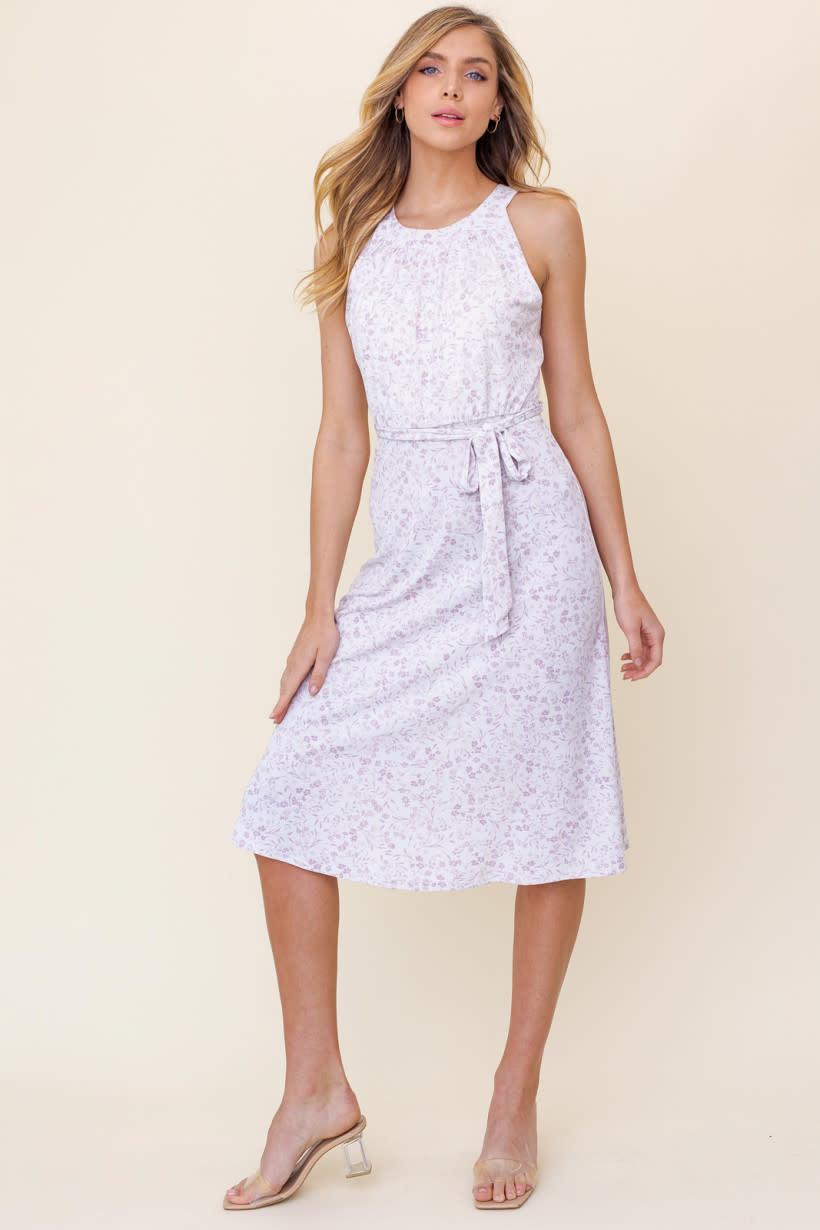 GILLI Halter Neck Floral Midi Dress
