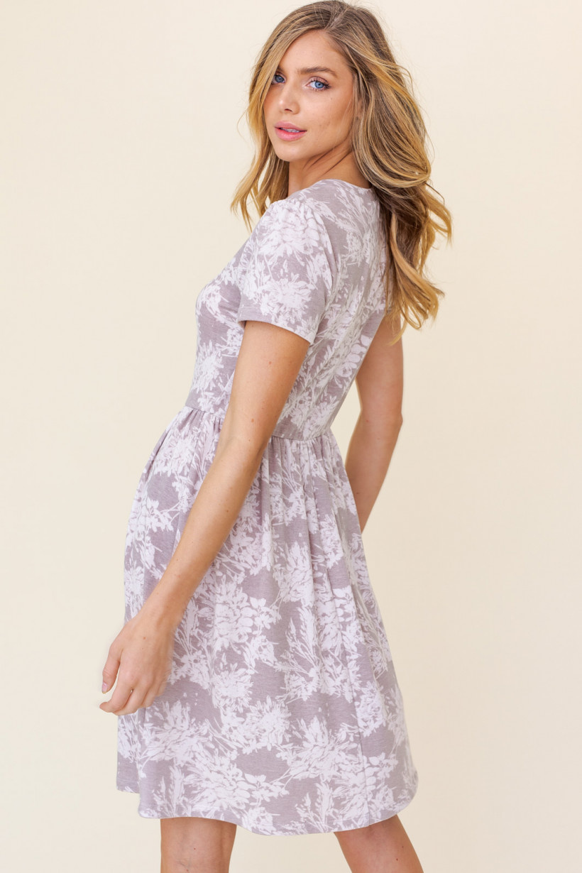 GILLI Short Sleeve Floral Print Dress