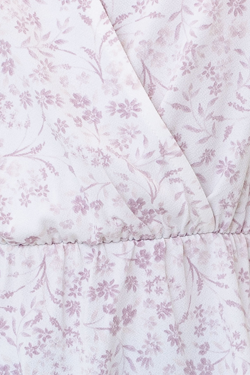 GILLI Faux Wrap Floral Print Blouse