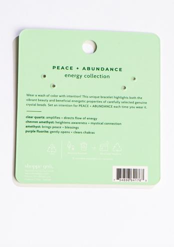GEOCENTRAL Peace & Abundance Bracelet