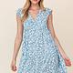 GILLI Babydoll Mini Dress w/ Ruffle Sleeve