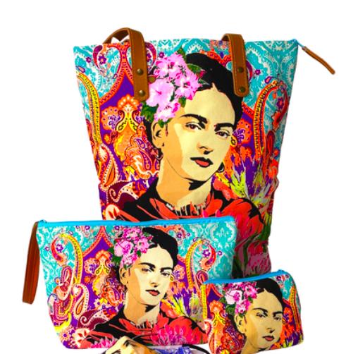 Lumily Frida Kahlo Stamped Wristlet