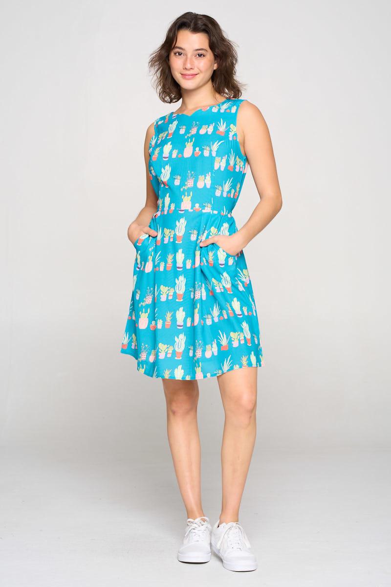 sm wardrobe Cactus All Over Dress