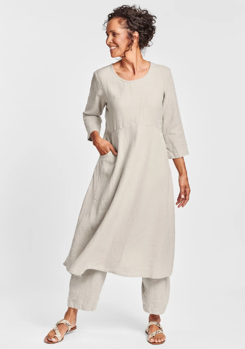 FLAX Dashing Dress - Natural
