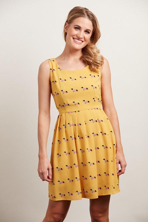 sm wardrobe Weiner Dog Print Dress