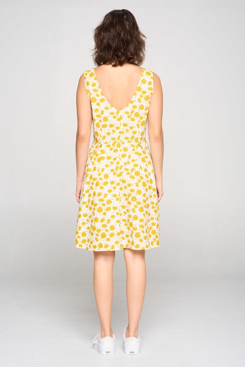 sm wardrobe Floral Print Cotton Dress w/ Pockets