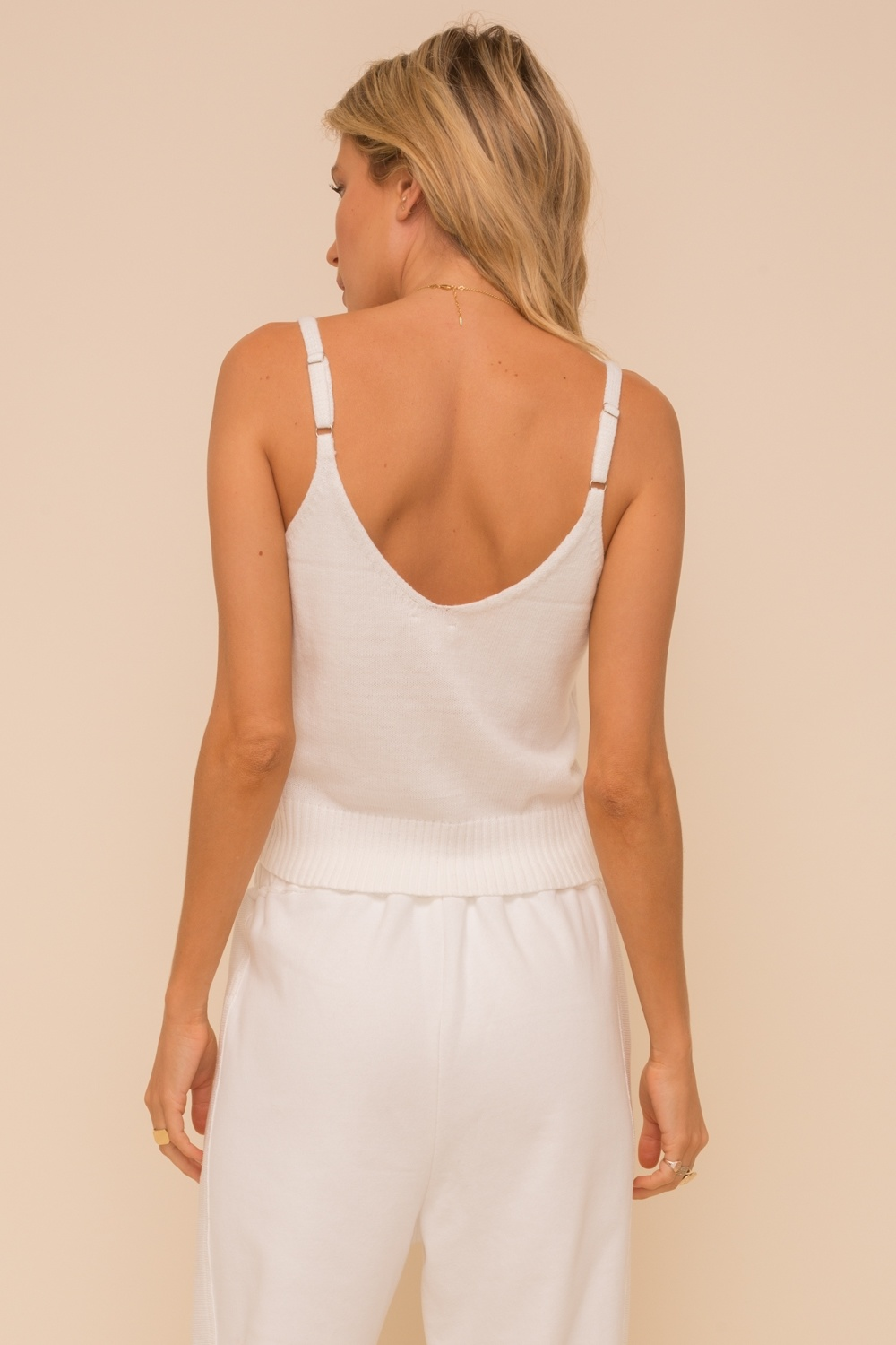 Hem & Thread Cable Texture Front Tank Top