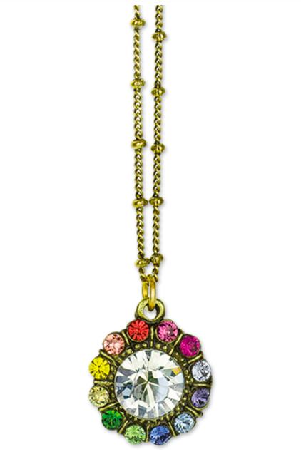 Anne Koplik Designs Rainbow Crystal Necklace