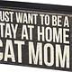 Primitives By Kathy Box Sign - Cat Mom