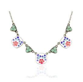 Anne Koplik Designs Pacific Opal 'Jill's Garden' Flower Necklace- POJGFN