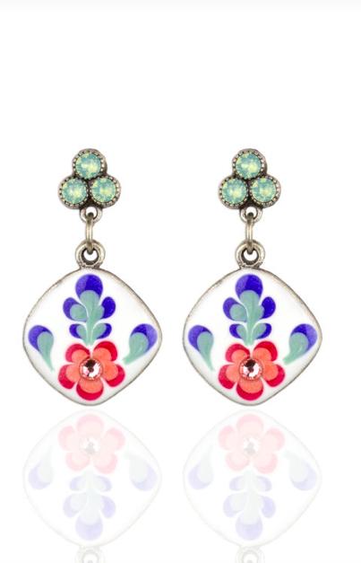 Anne Koplik Designs Pacific Opal 'Jill's Garden' Flower Earrings- POJGFE
