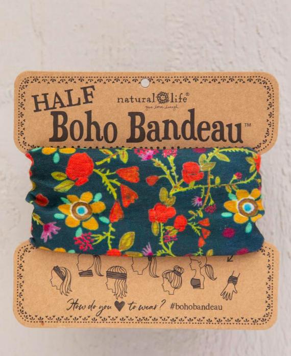 Natural Life Floral Half Boho Bandeau
