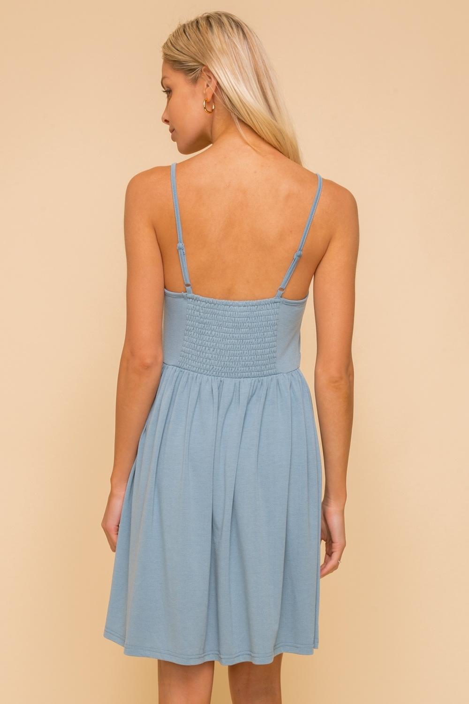Hem & Thread Lace Trimmed Jersey Dress