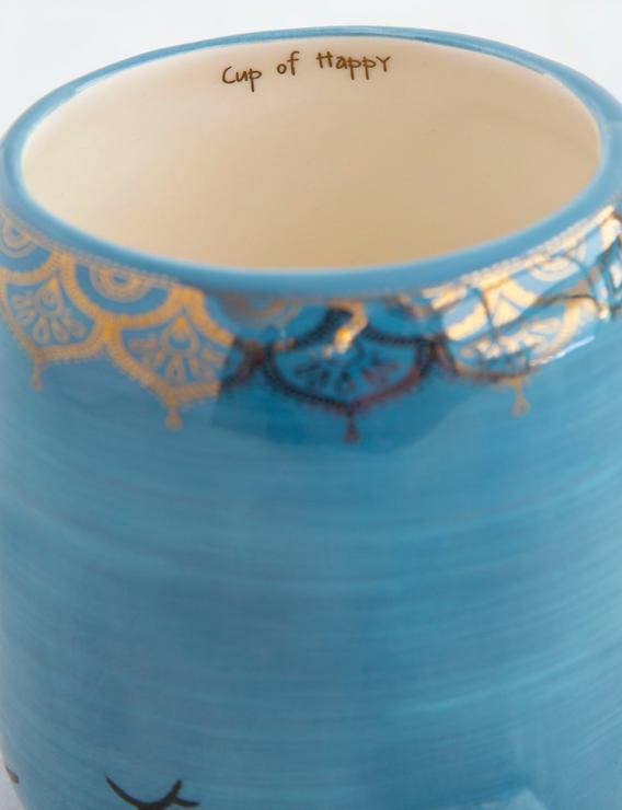 Natural Life Opal The Narwhal Folk Art Mug