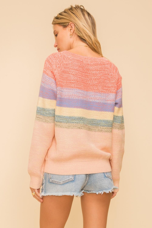 Hem & Thread Multi Color V-Neck Sweater