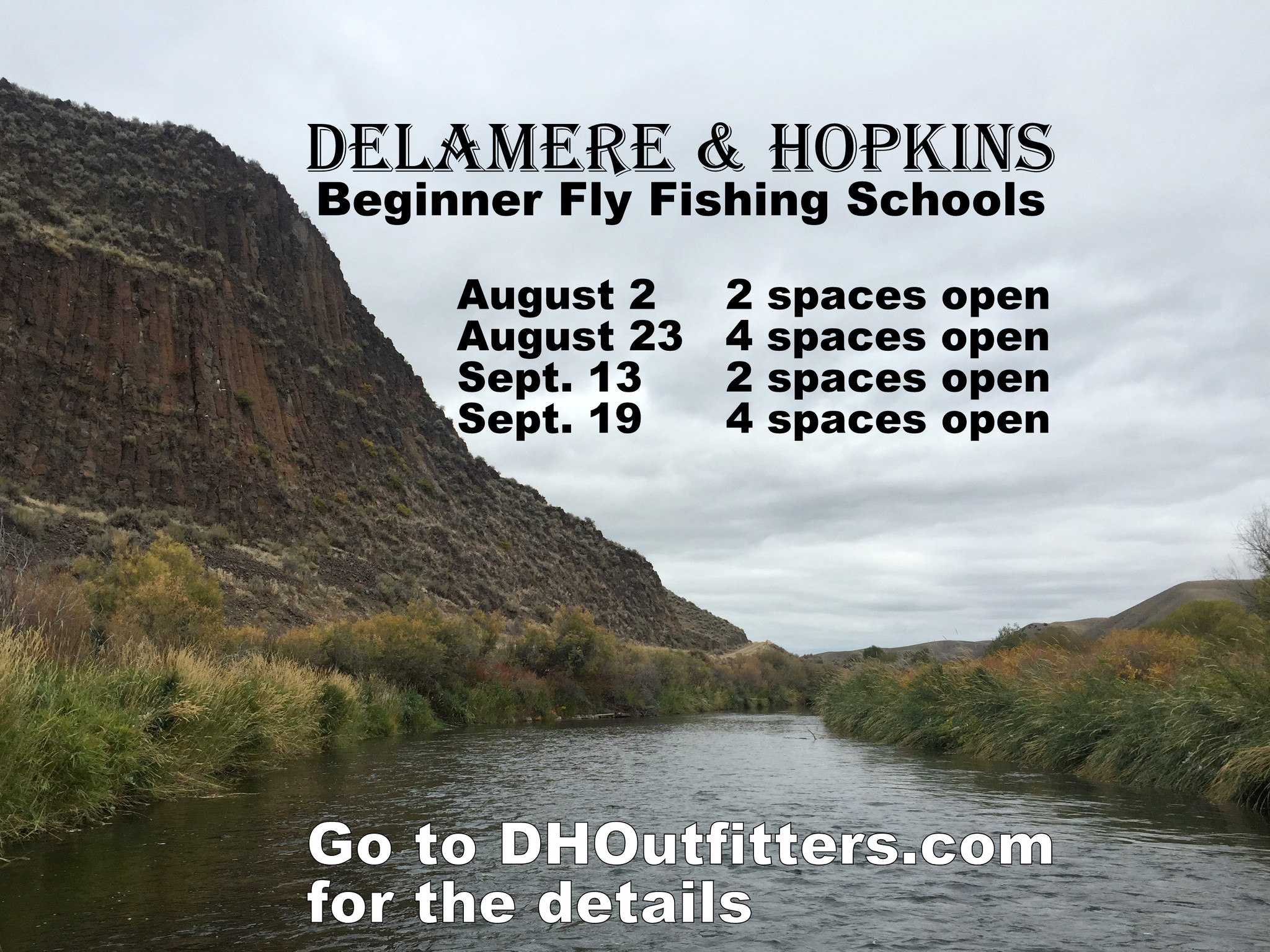 new dates added for Beginner Fly Fishing Schools