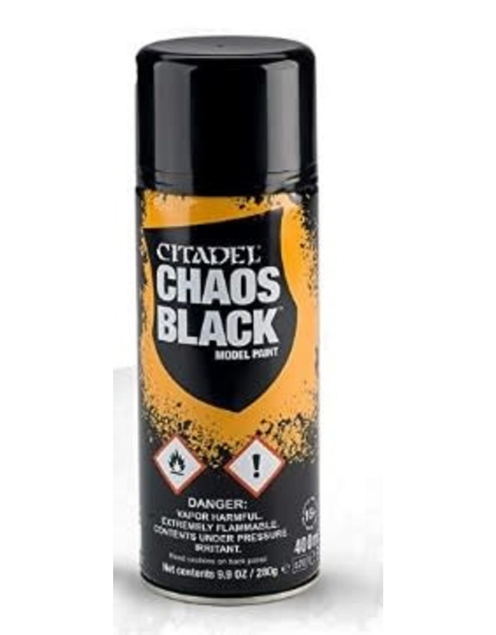 Citadel Paint: Chaos Black Spray Paint 10oz