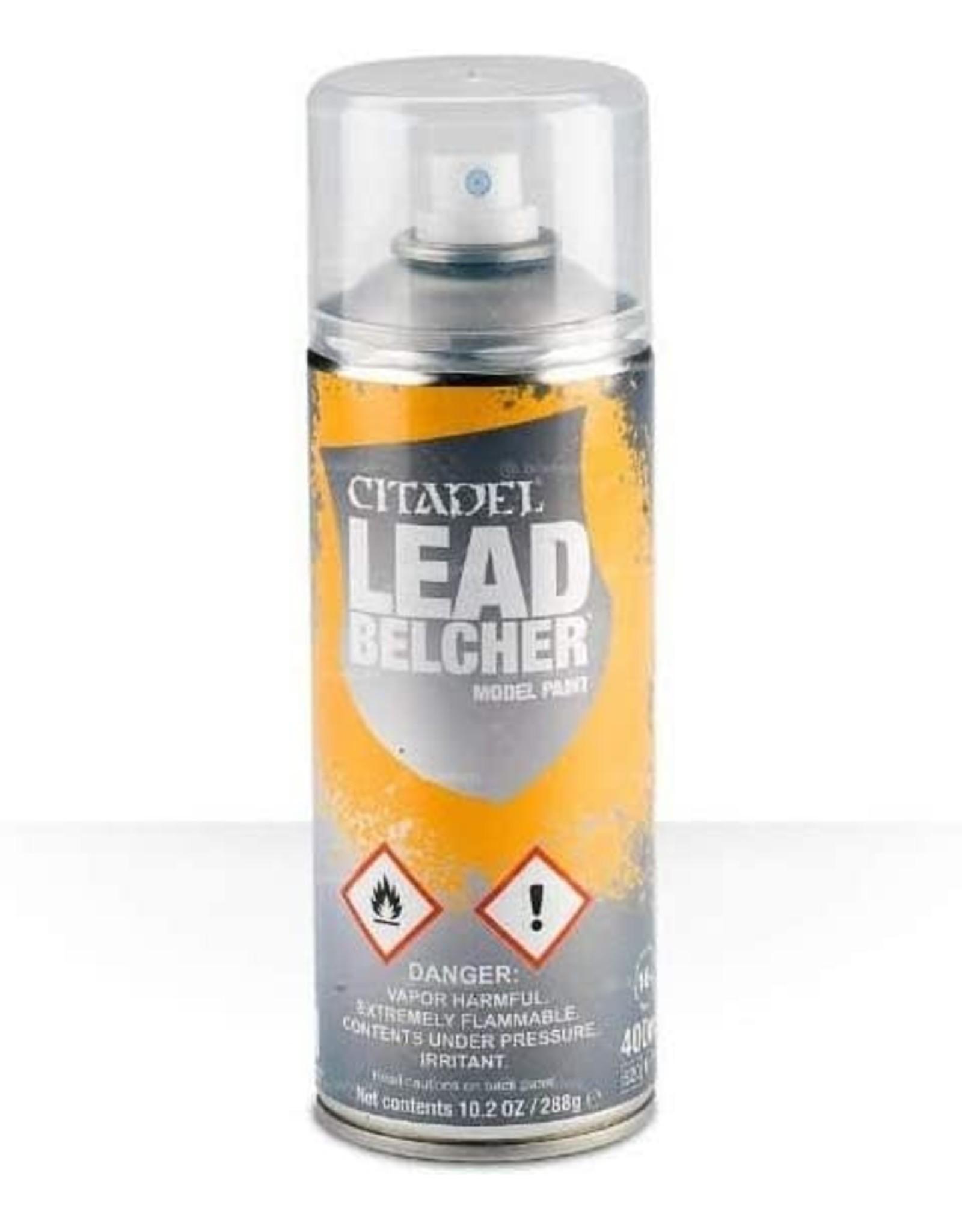 Games Workshop Citadel Paint: Lead Belcher Spray Paint 10oz
